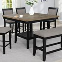 Crown Mark Fulton Counter Height Table with Lazy Susan - Item Number: 2727BK-T-4848