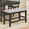 Crown Mark Fulton Counter Height Bench - Item Number: 2727GY-BENCH