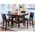 Crown Mark Fulton Counter Height Table and Chair Set - Item Number: 2727T-4848-V+4x2727S-24-V