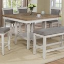 Crown Mark Fulton Counter Height Table with Lazy Susan - Item Number: 2727WH-T-4848
