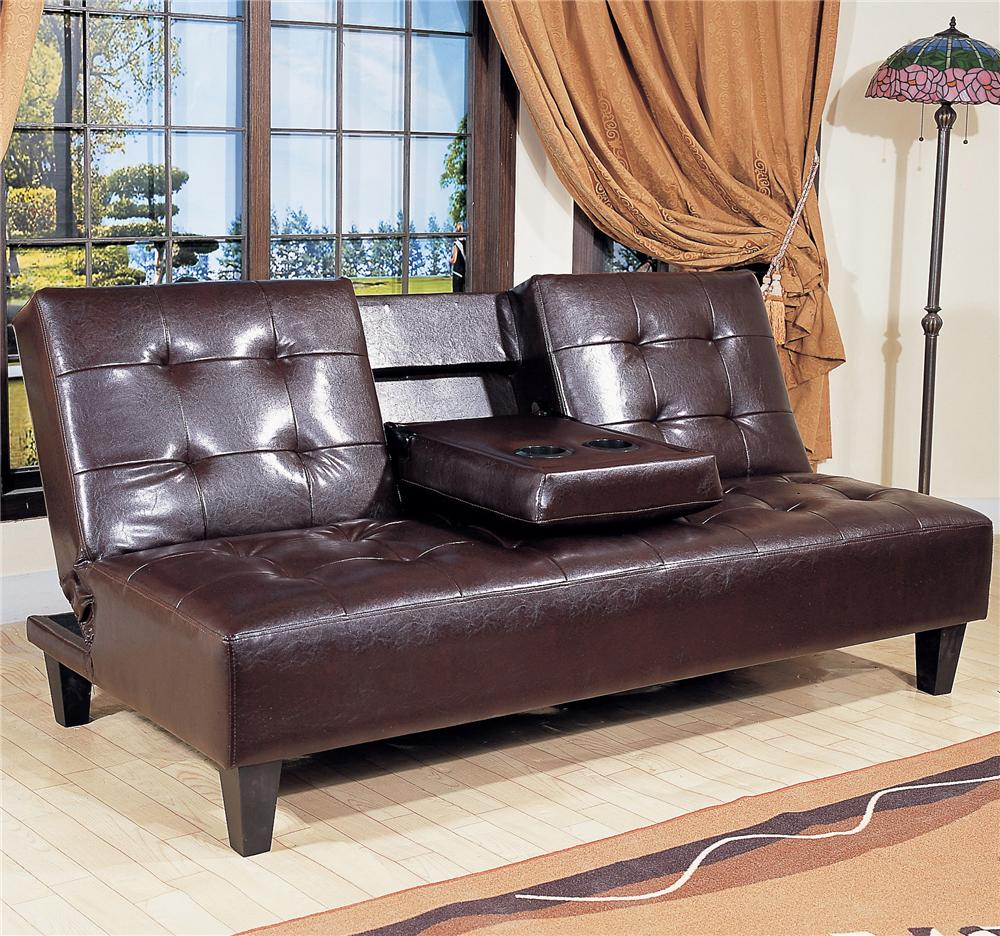 Room Store Furniture Locations: Crown Mark Futons & Daybeds Adjustable Sofa With Snack