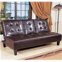 Crown Mark Futons & Daybeds Adjustable Sofa with Snack Tray