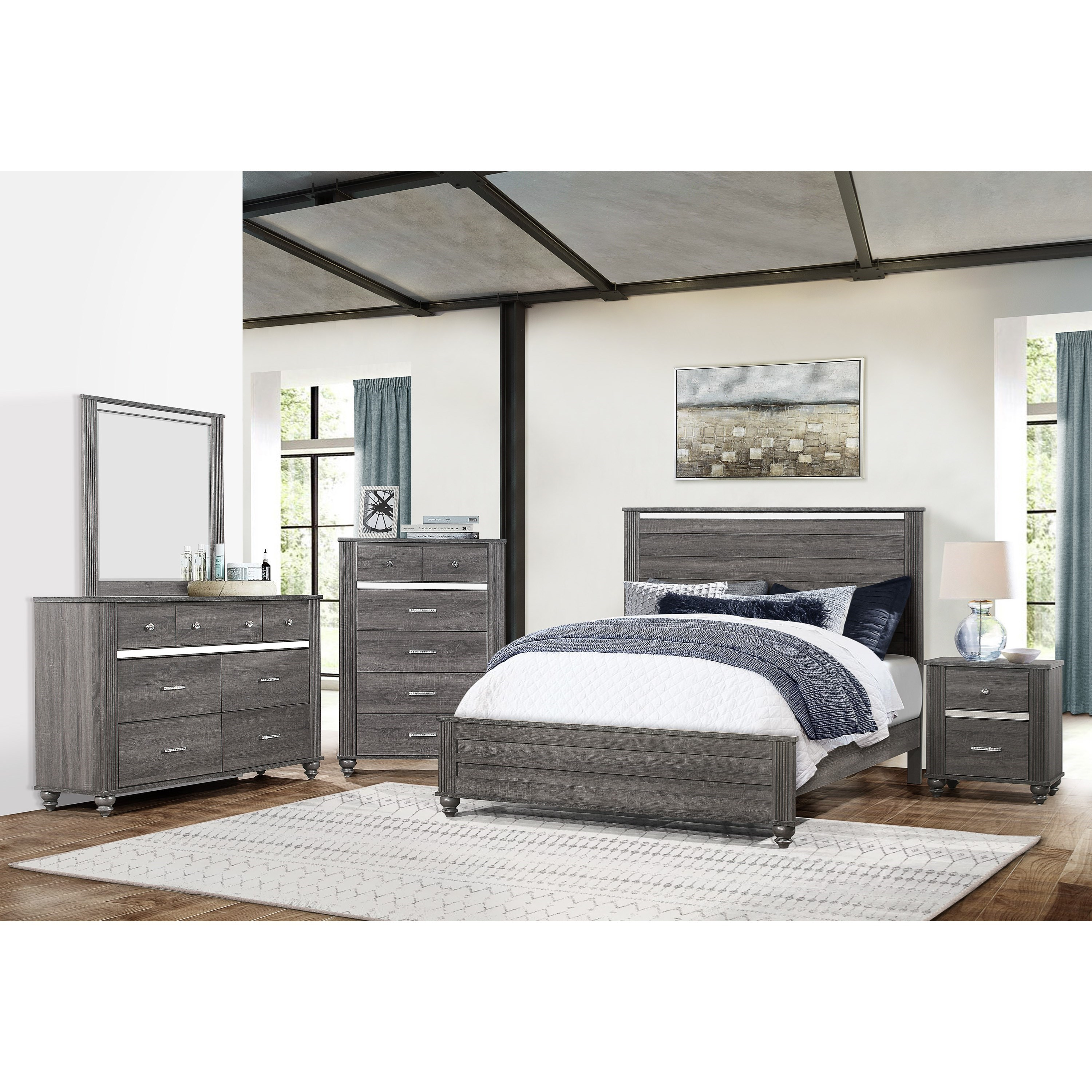 Gaston  King Bedroom Group by Crown Mark at Northeast Factory Direct