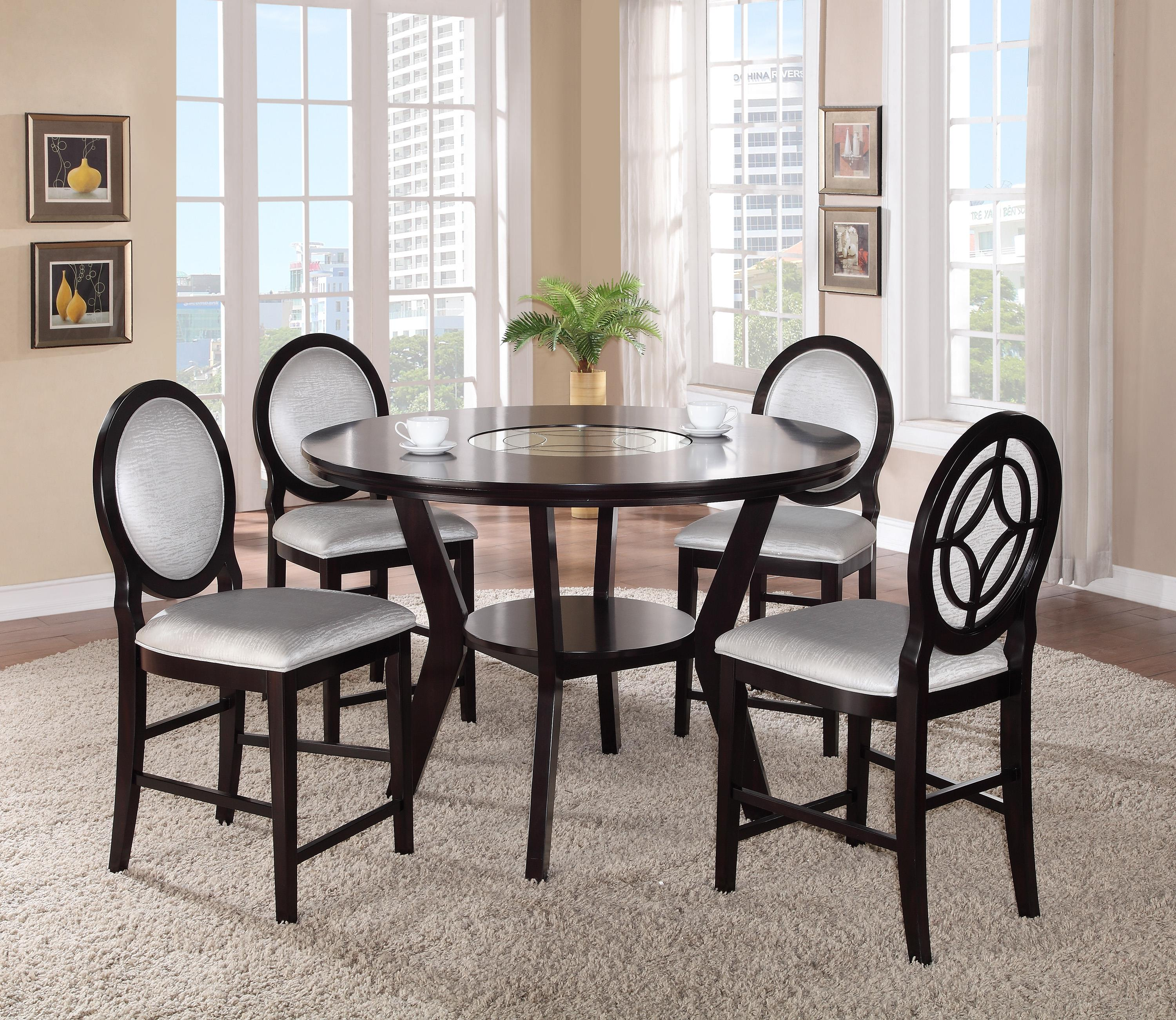 Crown Mark Gianna 5 Piece Counter Height Table and Chair Set - Item Number: 2736-5P