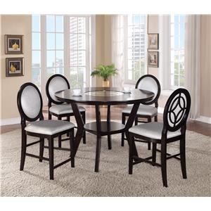 Crown Mark Gianna 5 Piece Counter Height Table and Chair Set