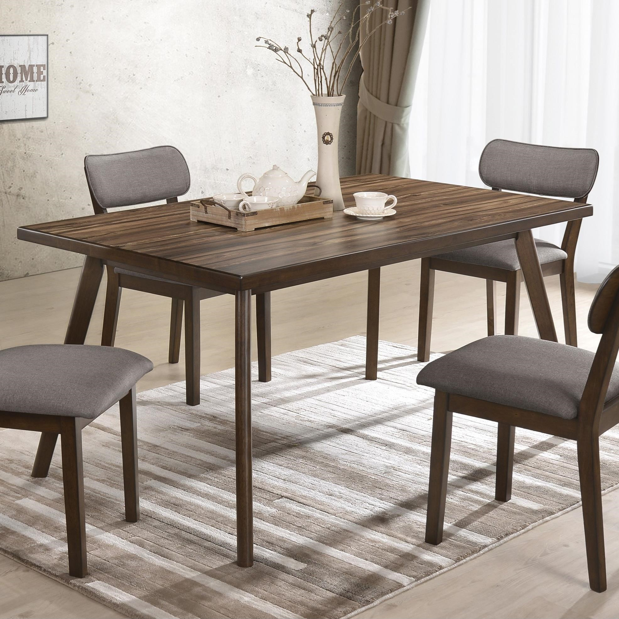 Gina Mid-Century Modern Dining Table with Angled Legs by Crown Mark at  Royal Furniture