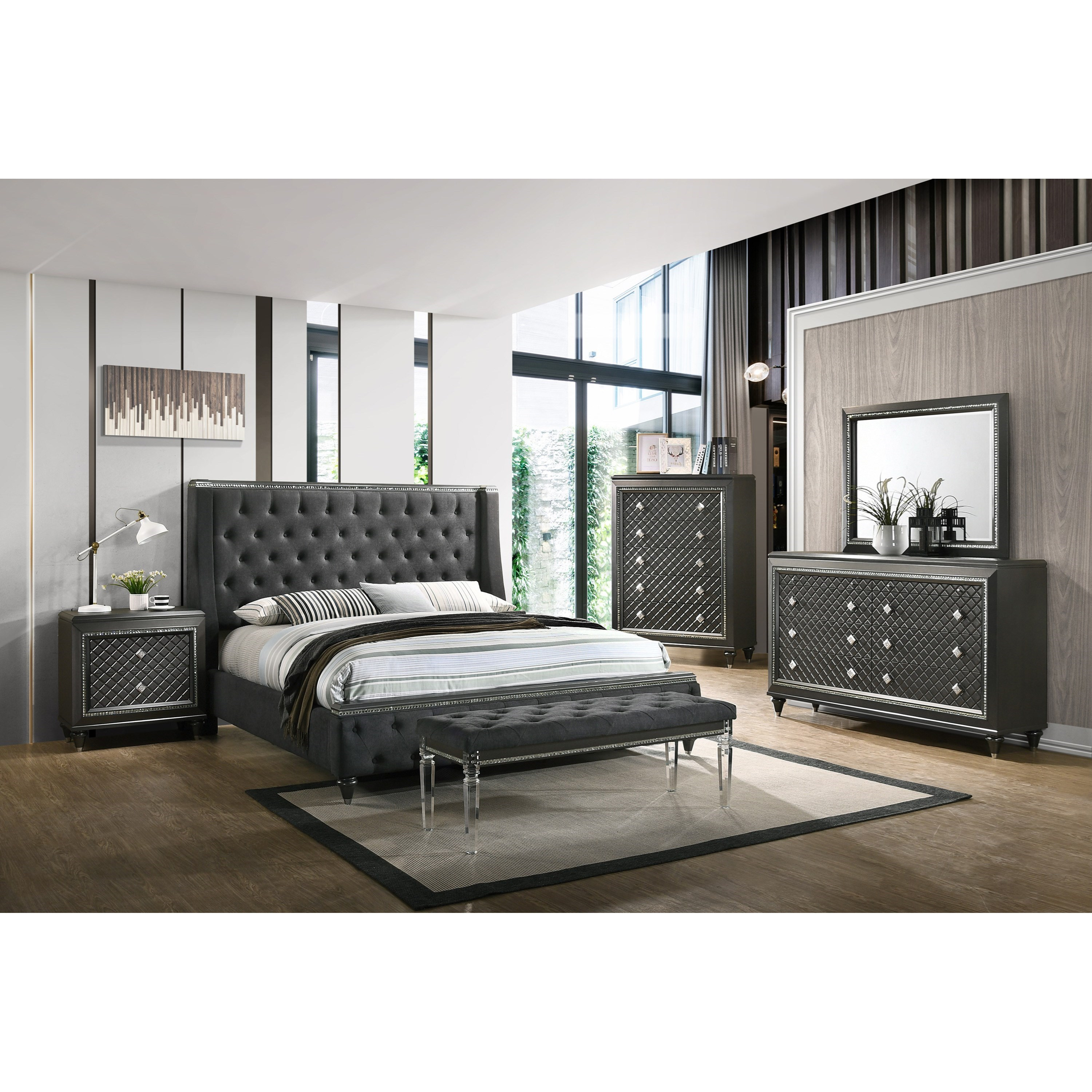 Giovani King Bedroom Group by Crown Mark at Northeast Factory Direct