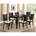Crown Mark Hanson 7 Piece Dining Table and Chair Set - Item Number: 2252T-3660+6xS