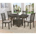 Crown Mark Hartwell Five Piece Dining Set - Item Number: 2195GY-T-4260+4xS