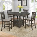 Crown Mark Hartwell 5-Piece Counter Table Set - Item Number: 2795GY-T-4260+4x2795GY-S-24