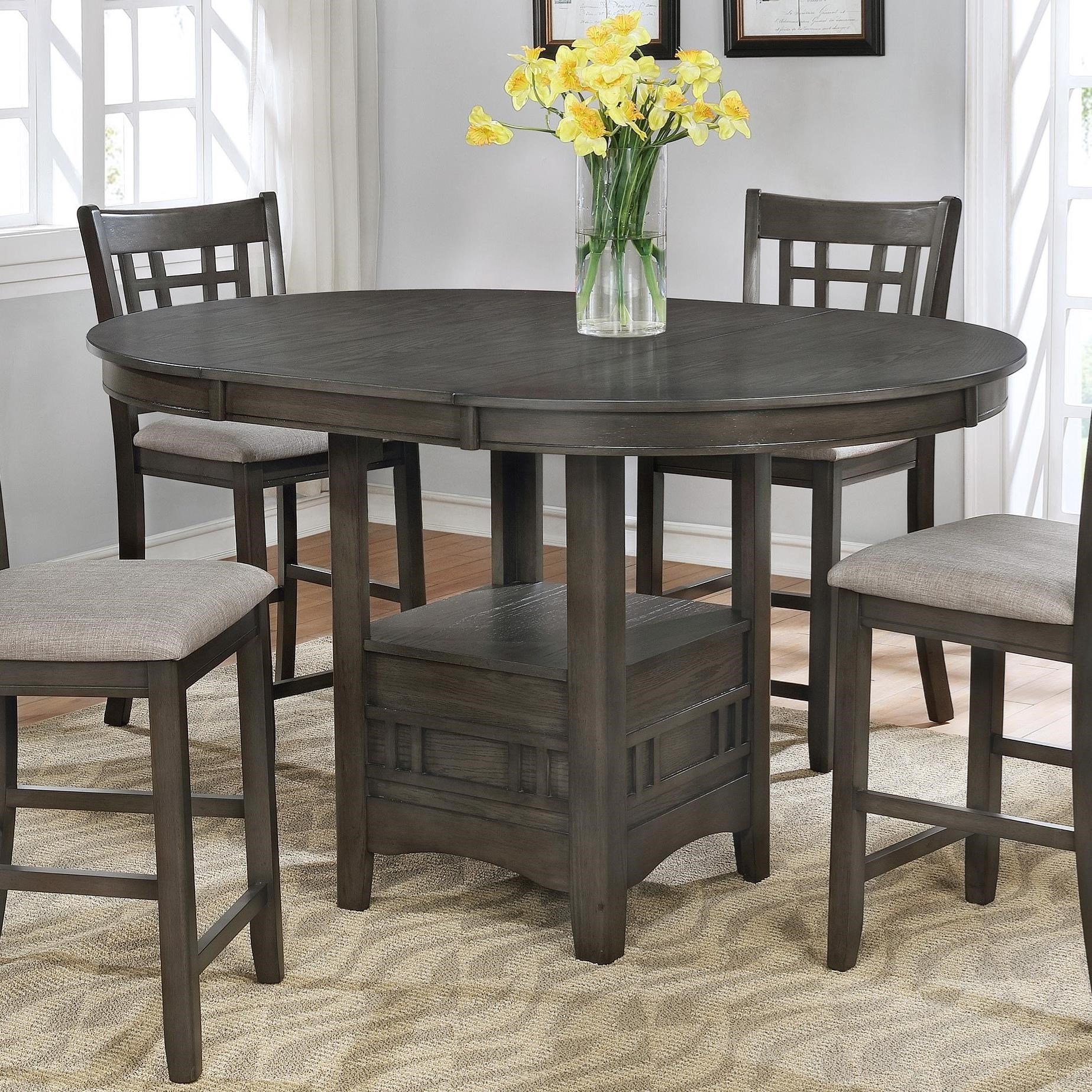 Crown Mark Hartwell Single Pedestal Counter Height Pub Table Darvin Furniture Pub Tables