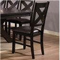 Crown Mark Havana 8 Piece Dining Table, Chair & Bench Set - Dining Chair Shown
