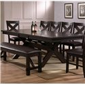 Crown Mark Havana Dining Table - Item Number: 2335T-4290-LEG+TOP