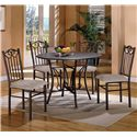 Crown Mark Hayes 5 Piece Dining Table and Chair Set - Item Number: 1223SET-N