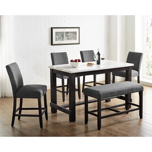 6-Piece Dining Set with Bench