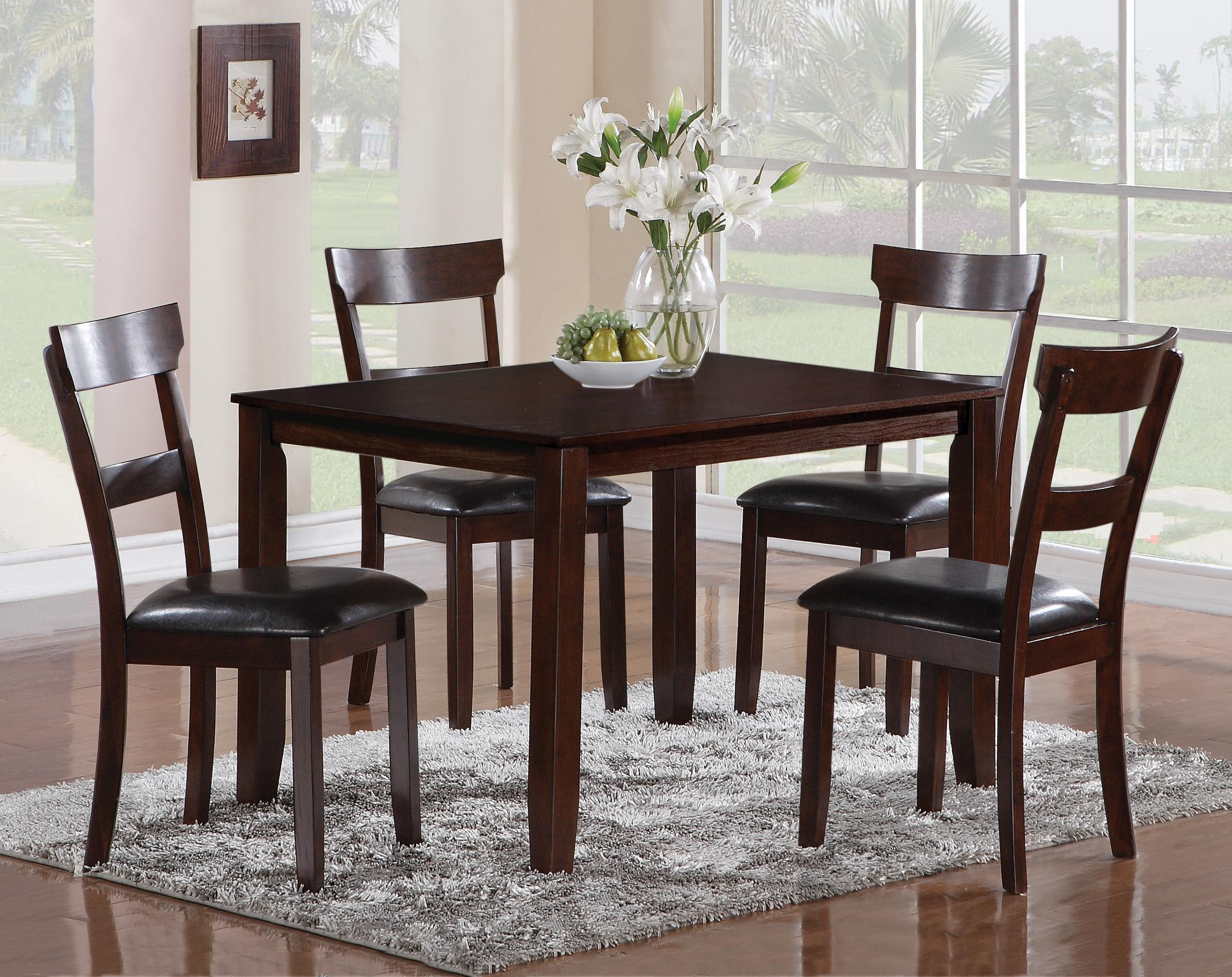 Crown Mark Henderson 5 Piece Dining Table And Chair Set