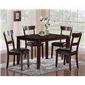 CM Henderson 5 Piece Dining Table Set - Item Number: 2254SET