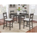 Crown Mark Henderson 5 Piece Counter Height Set - Item Number: 2754SET-GY