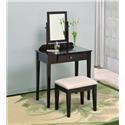 Crown Mark Iris Vanity Table & Stool - Item Number: 2208SET-ESP