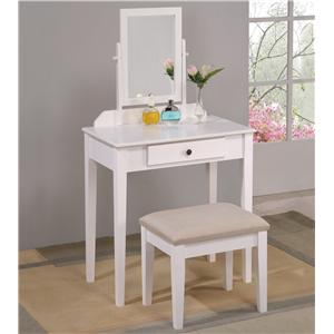 Crown Mark Iris Vanity Table & Stool
