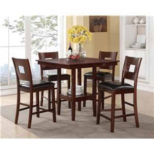 Crown Mark Isaac 5 Piece Counter Height Dinette