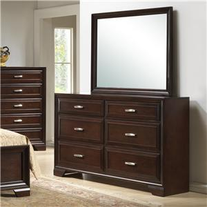 Crown Mark Jacob Dresser & Mirror