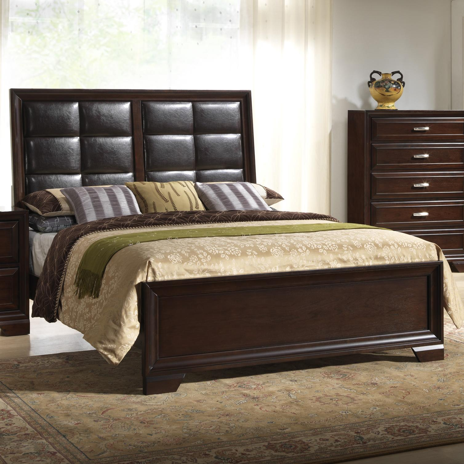 Crown Mark Jacob King Upholstered Bed - Item Number: B6510-K-HB+FB+Rail