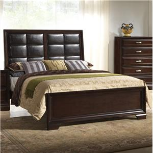 Crown Mark Jacob Queen Upholstered Bed