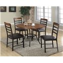 Crown Mark James 5 Piece Table and Chair Set - Item Number: 1245-5P
