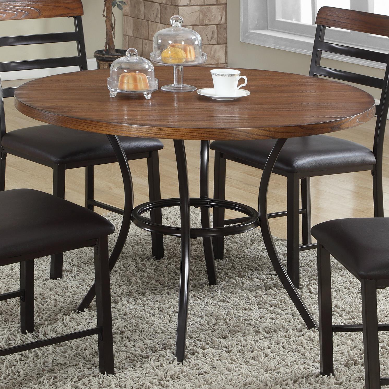 Crown Mark James Round Dining Table - Item Number: 1245T-42