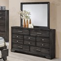 Crown Mark Jaymes Dresser and Mirror Combo - Item Number: B6580-1+11