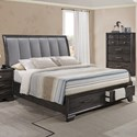 Belfort Essentials Jaymes Queen Storage Bed - Item Number: B6580-Q-HB+FBD+KQ-RAIL