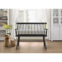 Crown Mark Jerimiah Relaxed Vintage Wood Spindle Back Bench