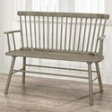 Crown Mark Jerimiah Spindle Back Bench  - Item Number: 4185-BENCH-GY