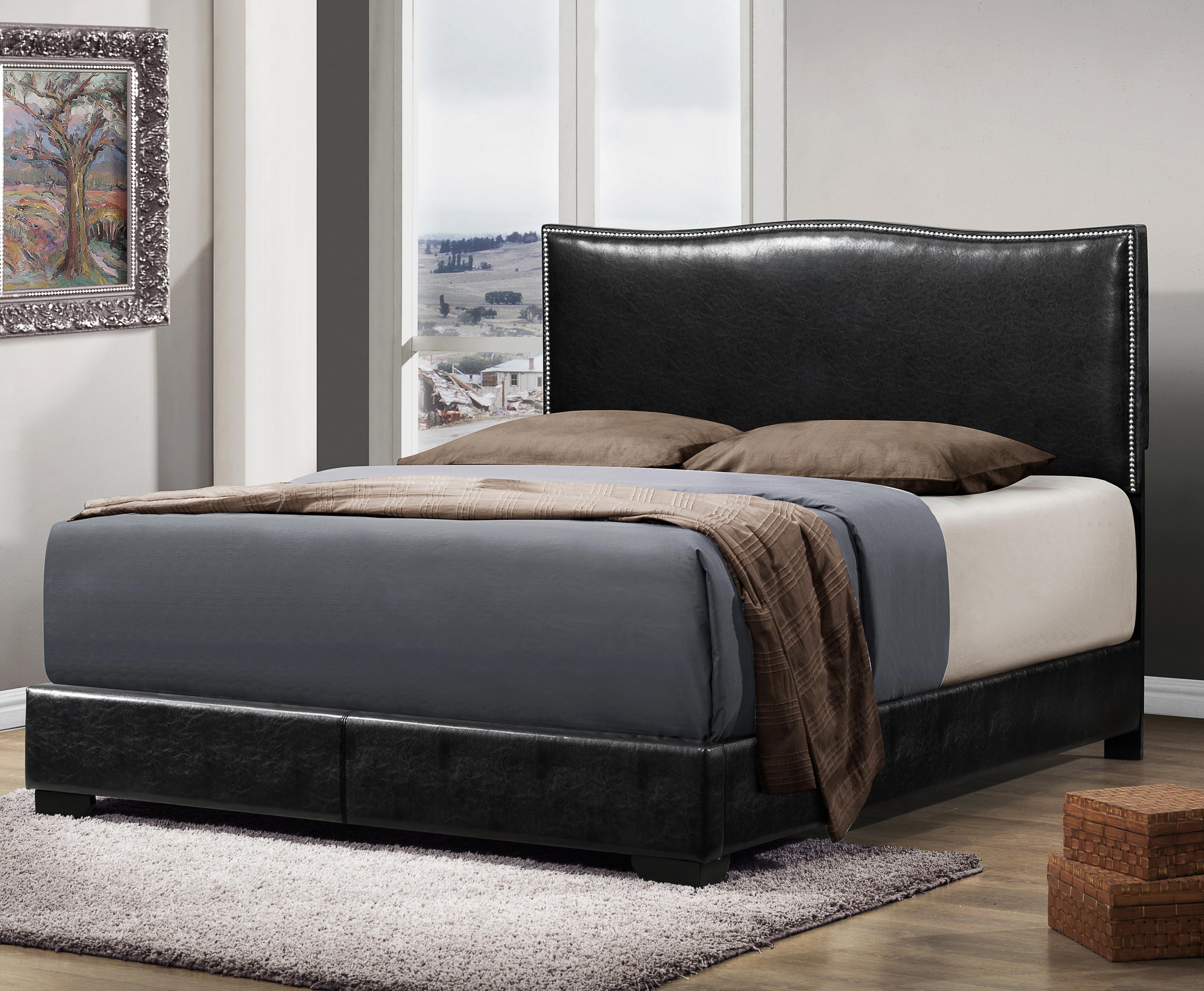 Crown Mark Jesper Queen Upholstered Bed - Item Number: 5270-Q-HB+FBRL