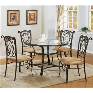 Crown Mark Jessica Dinette Table and Chair Set