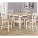 Crown Mark Josie 5 Pc Counter Height Table and Chair Set - Item Number: 2732SET