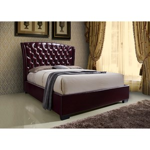 Crown Mark Kaitlyn Wine King Headboard and Footboard Bed