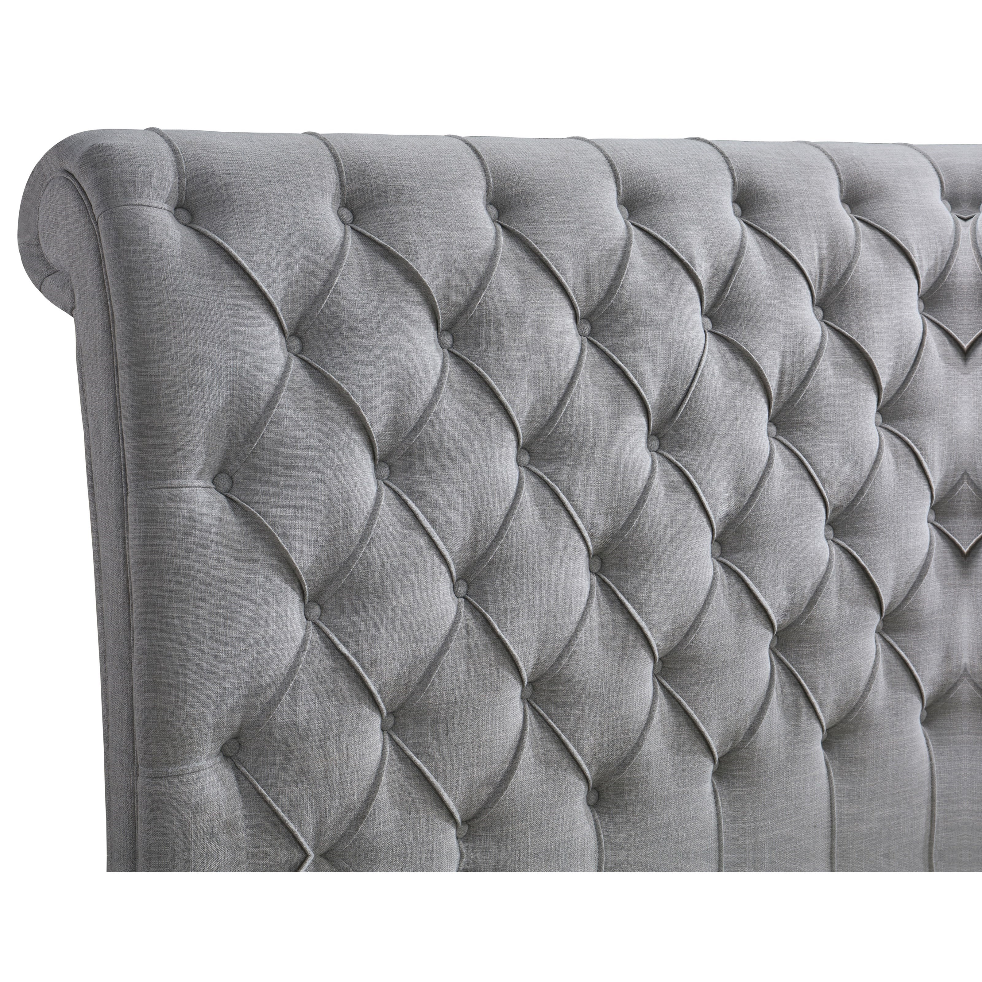 Crown Mark Farrow Queen Bedroom Group: Crown Mark Kate Queen Upholstered Bed With Diamond Tufting