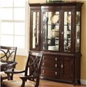 Crown Mark Katherine 2 Door Buffet with 3 Drawers - Shown with Hutch