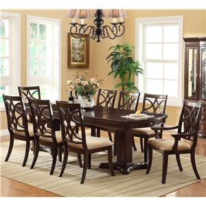 Crown Mark Katherine 9 Piece Table & Chair Set