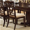 Crown Mark Katherine 9 Piece Pedestal Table & Upholstered Dining Chairs Set - Side Chair Shown