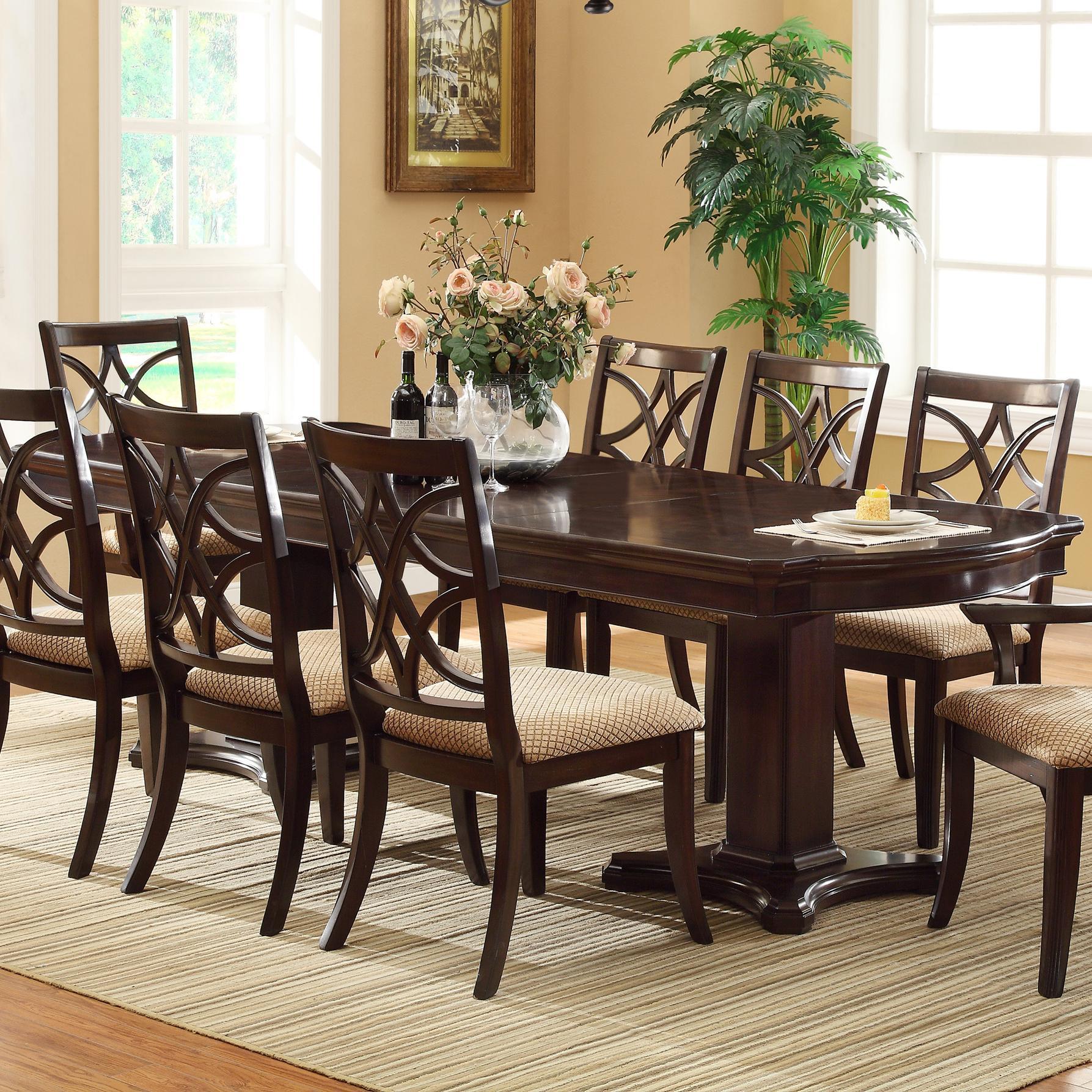 Crown Mark Katherine Dining Table - Item Number: 2020T-42108-TOP+LEG