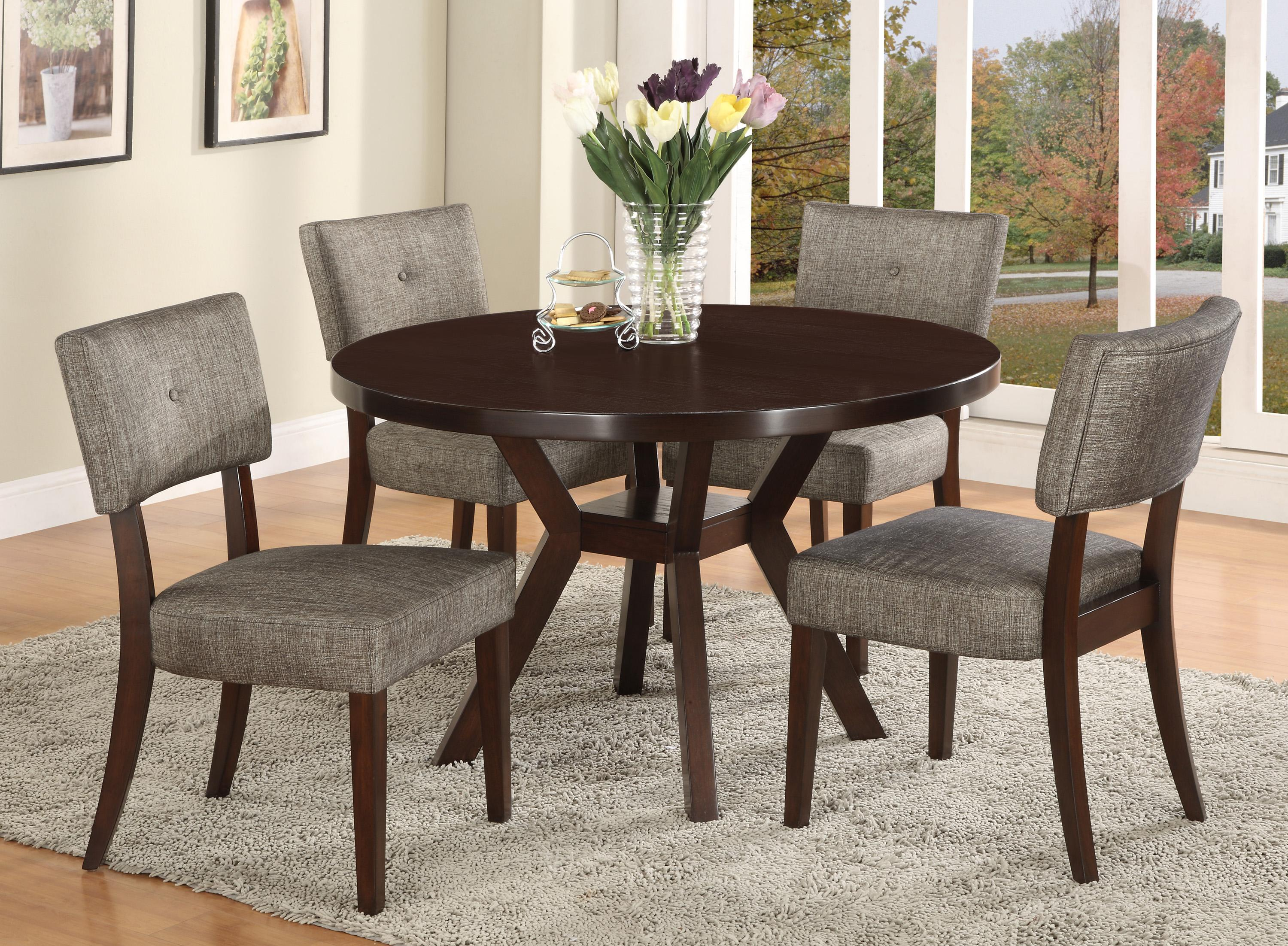 Crown Mark Kayla 5 Piece Dining Table Set - Item Number 2610T-48+ : oak table and chair sets - pezcame.com