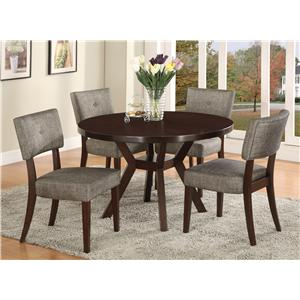 Crown Mark Kayla 5 Piece Dining Table Set
