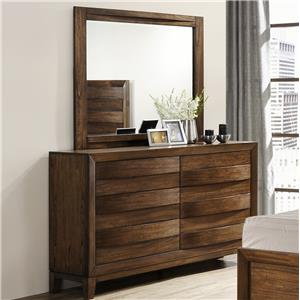 Crown Mark Kelton Dresser and Mirror Set