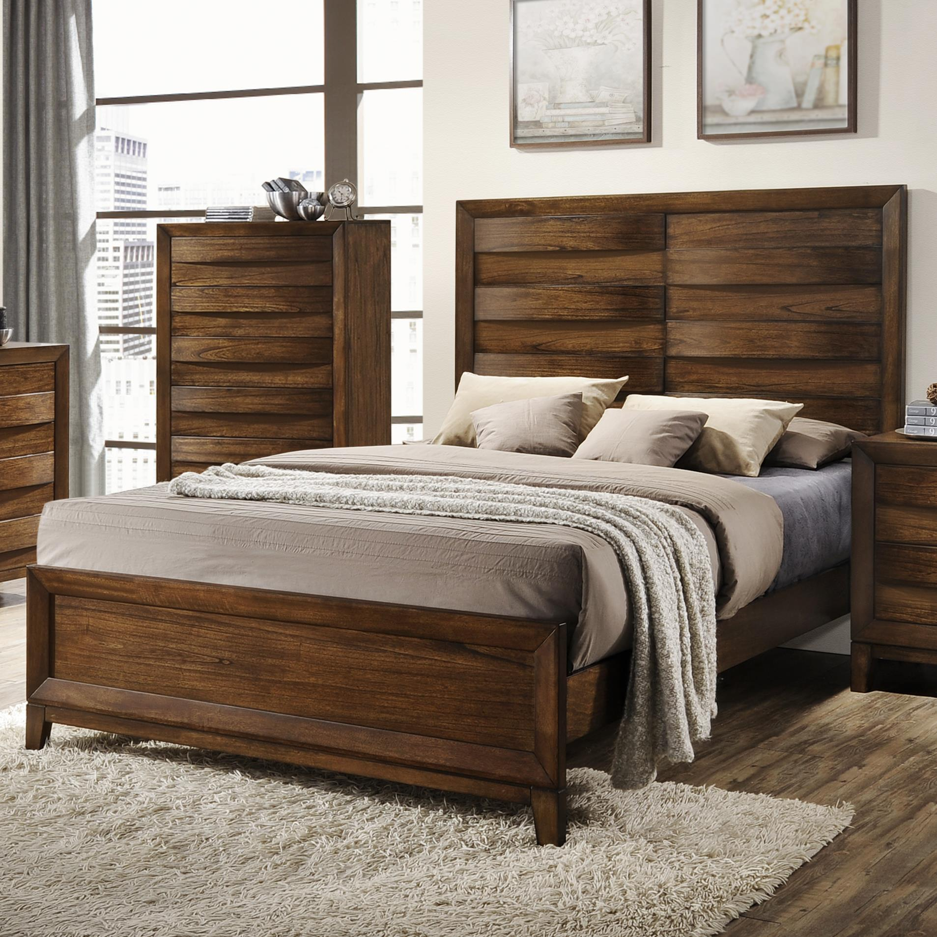 Crown Mark Kelton Panel Bed - Item Number: B6900-Q-HB+FB+KQ-RAIL