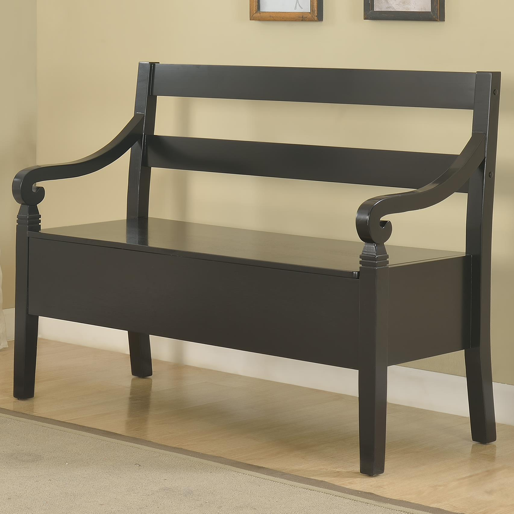 Crown Mark Kennedy Storage Bench - Item Number: 4183-BENCH-BK