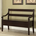 Crown Mark Kennedy Storage Bench - Item Number: 4183-BENCH-ESP