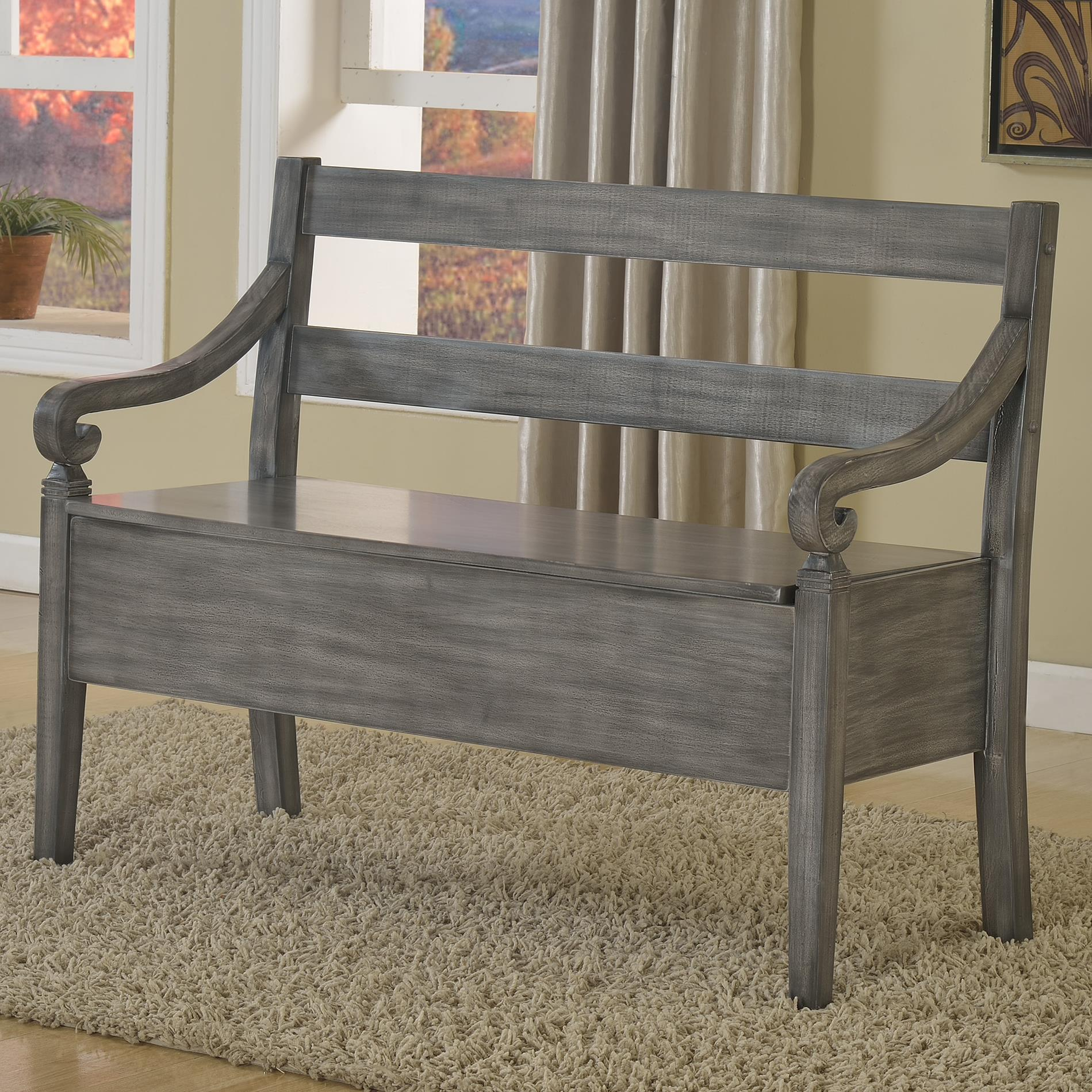 Crown Mark Kennedy Storage Bench - Item Number: 4183-BENCH-GY